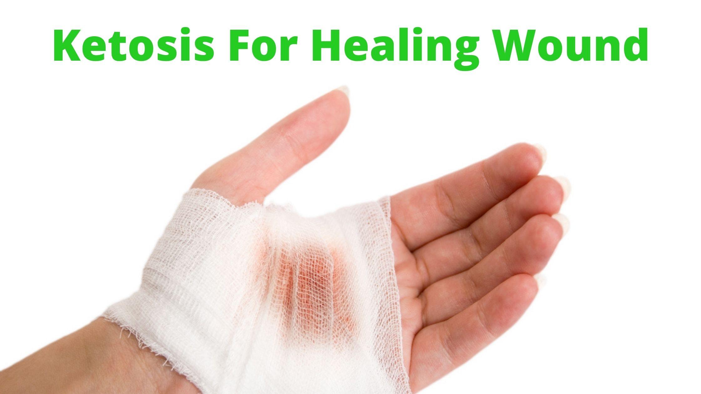 Ketosis promotes rapid wound healing